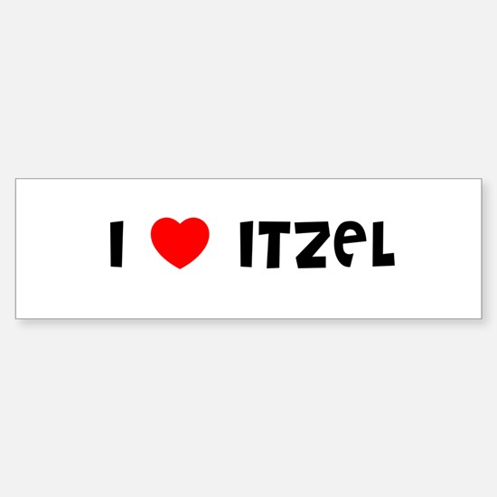 I LOVE ITZEL Bumper Car Car Sticker