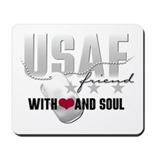 USAF Friend - With Heart and Mousepad