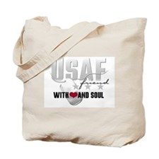 USAF Friend - With Heart and Tote Bag