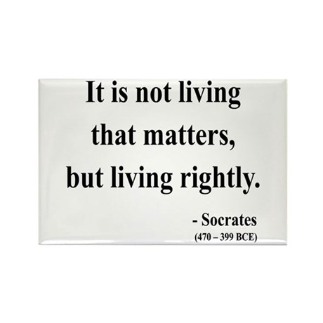 Socrates 7 Rectangle Magnet (100 pack)