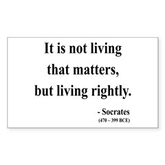 Socrates 7 Rectangle Decal