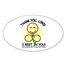 I REST IN YOU Oval Decal
