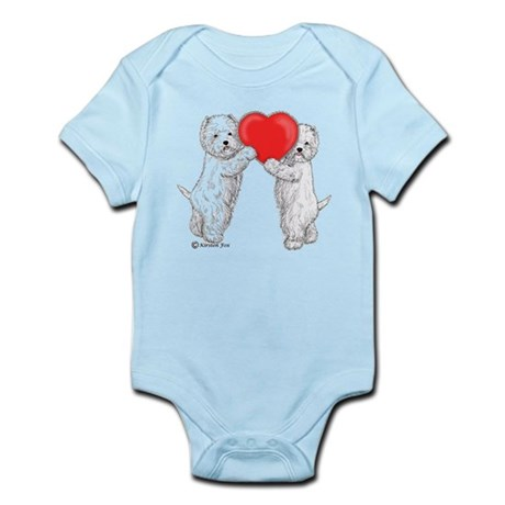 Westies with Heart Infant Bodysuit