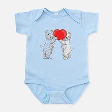 Westies with Heart Infant Bodysuit