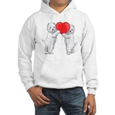 Westies with Heart Hoodie