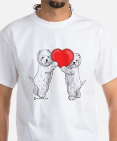 Westies with Heart Shirt