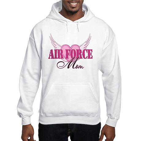 Air Force Mom Wings Hooded Sweatshirt