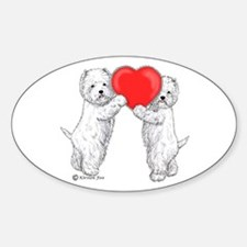 Westies with Heart Decal