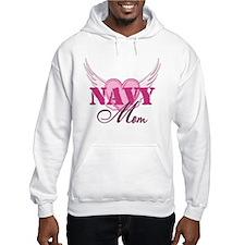 Navy Mom Wings Jumper Hoody