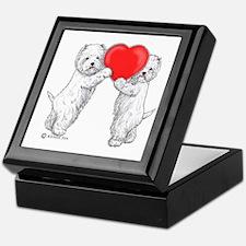 Westies with Heart Keepsake Box