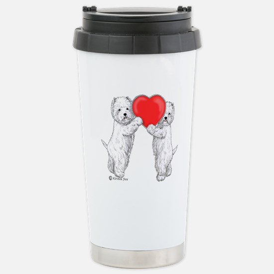 Westies with Heart Stainless Steel Travel Mug