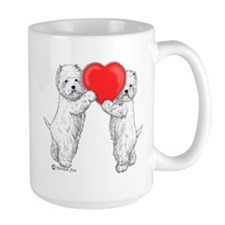 Westies with Heart Mug