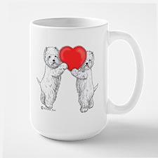 Westies with Heart Mug