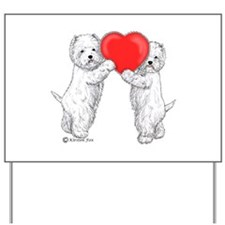 Westies with Heart Yard Sign