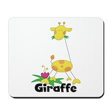 Whimsical Giraffe Mousepad