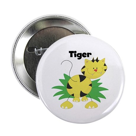 "Whimsical Tiger 2.25"" Button (100 pack)"