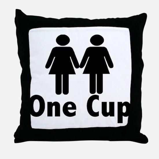 2 girls 1 cup Throw Pillow