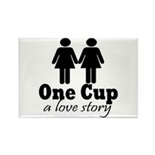 2 girls 1 cup Rectangle Magnet