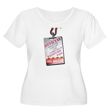 Backstage Pass Women's Plus Size Scoop Neck T-Shir