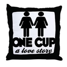 2 girls 1 cup Throw Pillow