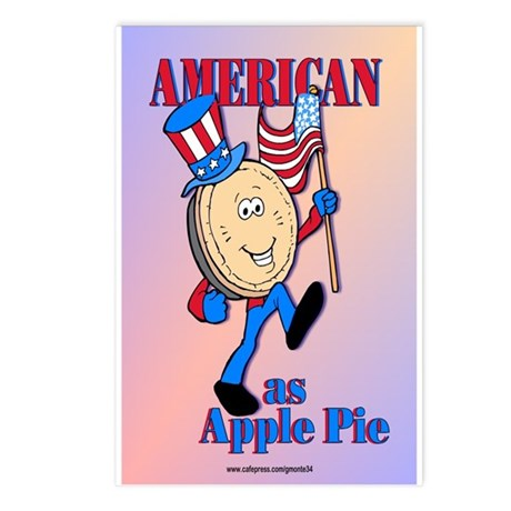 American As Apple Pie Postcards (Package of 8)