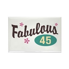 Fabulous 45 Rectangle Magnet