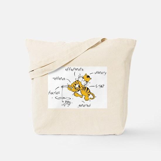 Chinese Birth Sign - Tiger - Tote Bag