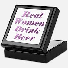 Real Women Drink Beer #3 Keepsake Box