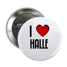 I LOVE HALLE Button