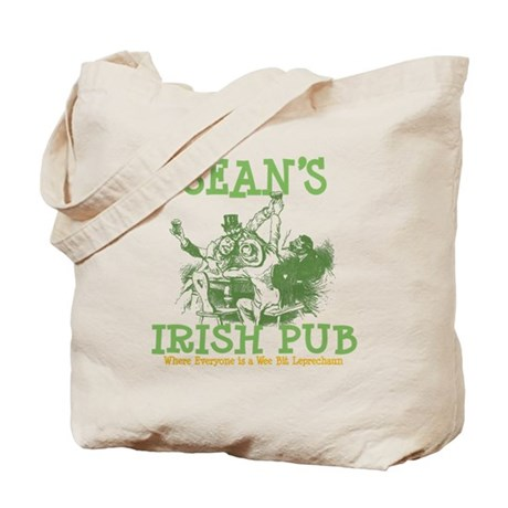 Sean's Vintage Irish Pub Tote Bag