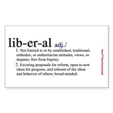 LIBERAL Sticker (Rectangular)