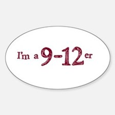 I'm a 9 -12er Oval Decal