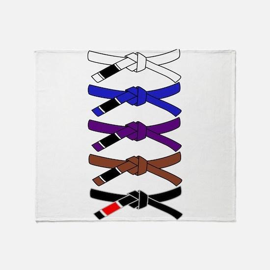brazilian jiu jitsu T Shirt Throw Blanket