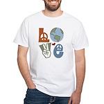 Love Earth White T-Shirt