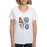 Love Earth Women's V-Neck T-Shirt