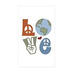 Love Earth Rectangle Sticker 10 pk)