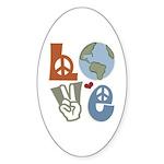 Love Earth Oval Sticker (10 pk)
