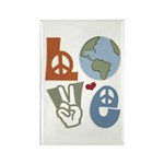 Love Earth Rectangle Magnet (100 pack)