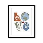 Love Earth Framed Panel Print