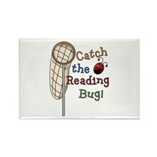 Reading Bug Rectangle Magnet