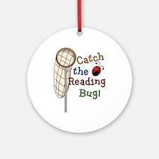 Reading Bug Ornament (Round)