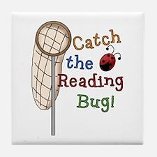 Reading Bug Tile Coaster