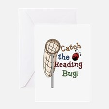 Reading Bug Greeting Card