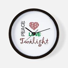 oddFrogg Peace Love Twilight Wall Clock