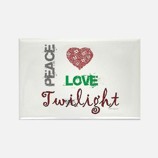 oddFrogg Peace Love Twilight Refrigerator Magnet