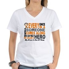 HERO Comes Along 1 Niece LEUKEMIA Shirt