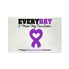 PancreaticCancerTwin Sister Rectangle Magnet (100