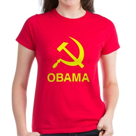 Socialist Obama Women's Dark T-Shirt