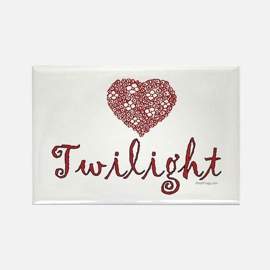 oddFrogg Twilight Heart Rectangle Magnet