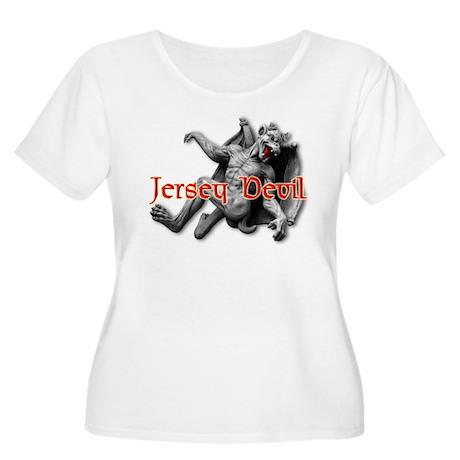 JERSEY DEVIL Women's Plus Size Scoop Neck T-Shirt
